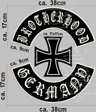 Brotherhood Germany Rückenaufnäher Set (3  Teile) Aufnäher Patch.
