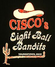 CISCO'S 8-BALL BANDITS lrg jersey Youngstown beat-up pool shirt Ohio cactus