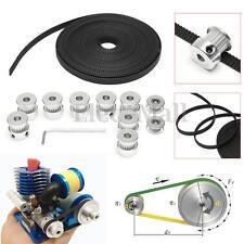 8Pcs GT2 20T Bore 6mm Timing Pulley+ 5m Belt + 2*Tensioner For 3D Printer RepRap