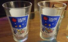 Set Of 2 1982 The World's Fair Knoxville Tennessee Clear Glasses McDonald's