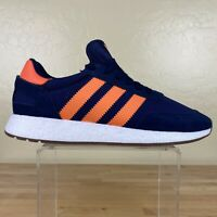 Adidas Originals Boost Sneakers Mens Size 13 Athletic Running Navy / Orange
