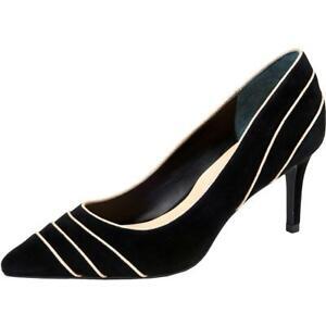 Alfani Womens Jeules  Suede Metallic Pointed Toe Evening Heels Shoes BHFO 0523