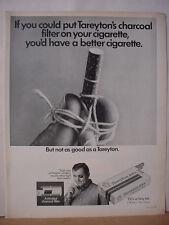 1968 Tareyton 100's Cigarette Black Eye Series TiedFinger Vintage Print Ad 10425