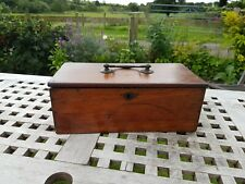 Antique Vintage wooden box  Hobby Sewing Oak? Mahogany?