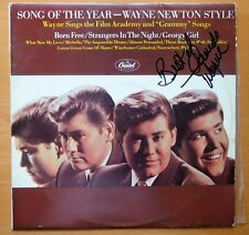 "WAYNE NEWTON ""SONG OF THE YEAR"" PERSONALLY SIGNED LP WITH COA"