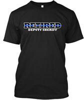 Retired Deputy Sheriff Thin Blue Line - Hanes Tagless Tee T-Shirt