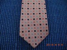 NEW 14 in  BOYS ZIPPER TIE PINK TRADITIONAL SILK WOVEN