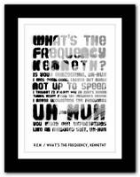 ❤ R.E.M.- What's The Frequency, Kenneth❤ song lyrics typography poster art print
