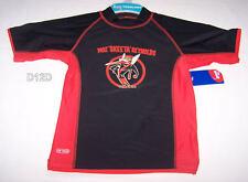 Essendon Bombers AFL Boys Black Red Printed Rash Vest Size 5 New