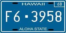 Hawaii Five-0 1968 Hawaii License plate FREE SHIP