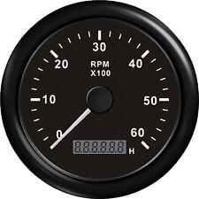 KUS Boat RPM Meter WEMA LCD Marine Tachometer Hourmeter 12/24V 0-6000 RPM 85mm