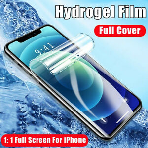 Soft Hydrogel Film Screen Protector Protective Film For iPhone 12 11 Pro XR XS 8