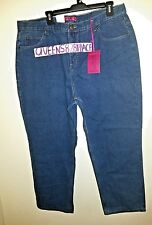 Cottage Street Womens Plus Size 20W Petite Blue Jeans Straight  RELAXED 3X New