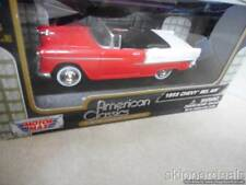 1955 CHEVY BEL AIR CONVERTIBLE RED WHITE DIECAST 1:43 MOTOR MAX AMERICAN CLASSIC