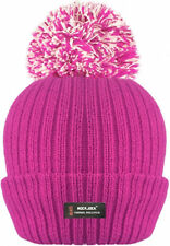 2fc5be5d6a634 3m Thinsulate Mens Womens Ladies Chunky Beanie Pompom Bobble Ski Hat Pink