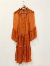 Designer Lee Mathews Size 2 (Med) Red & white Silk Stunning Midi Women's Dress