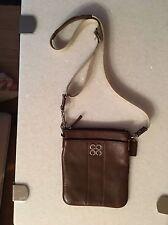 COACH JULIA Brown Leather Swingpack Crossbody 43805