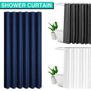 Waterproof Shower Curtain 180x200cm Bathroom Bath Curtains Hooks Set Anti Mildew