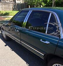 1992-1999 Buick LeSabre Le Sabre 8Pc Chrome Pillar Post Stainless Steel Trim