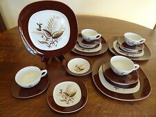 Vintage Taylor Smith Taylor Jamaica Brown China 20 Pieces Service 4 by Teague