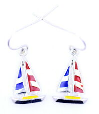 Cute dangling sailing boat earrings. Nauitical theme