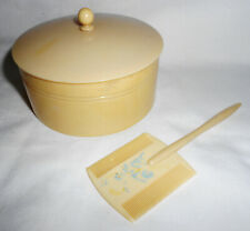 Vintage Baby Powder Box and Comb Set