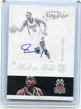 2013-14 PRIME SIGNATURES #176 LUC MBAH A MOUTE AUTOGRAPH MILWAUKEE BUCKS, 011117