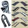 Classic Men Shawl Scarf Winter Warm Cotton Knit Striped Tassel Wrap Soft Fashion