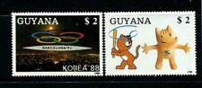 GUYANA 1988  2050BC MASCOTAS OLÍMPICAS 2V. COBI/ KOREA 88 BARCELONA -92