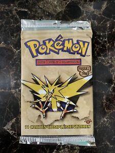 1999 Pokemon Base Set Zapdos Art Booster Pack