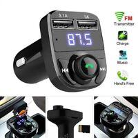 Wireless FM Transmitter X8 Cigarette Lighter Adapter Bluetooth 4.2 MP3 Usb Port