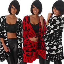 Geometrische Damen-Pullover & Mittel mit Hüftlang ohne Verschluss