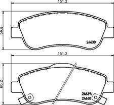 Mintex Plaquettes Frein Avant MDB2939-Brand new-genuine-Garantie 5 an