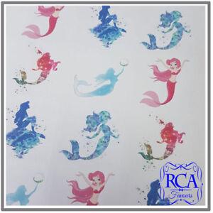 15 x Square Matt Stickers Variety Pack Mermaids Designs (50mm x 50mm)