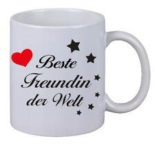 """Kaffee Tasse Becher """"Beste Freundin der Welt"""" Geschenk Weihnachten Büro Kollege"""