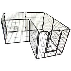 PetJoint Heavy Duty Pet Playpen Exercise Pen Enclosure Dog Crate Cage Fence Gate