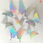 12Pcs Hollow Butterfly Wall Sticker DIY Home Decoration wedding Party Deco$s