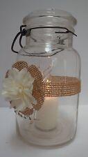 10 Burlap Cream Ivory Mason Jar Country Rustic Wedding Decorations Wraps S12