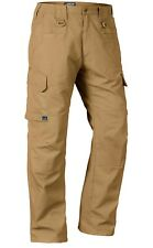 LAPG Men's Water Resistant OPERATOR TACTICAL PANT w/ Elastic Waistband - Brown