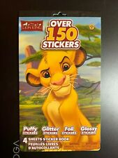DISNEY THE LION KING STICKER BOOK, OVER 150 PUFFY GLITTER FOIL & GLOSSY STICKERS