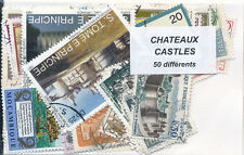 ZAT - CHATEAUX : 50 TIMBRES DIFF. OBLI. Ts PAYS