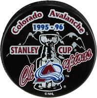 Colorado Avalanche Unsigned 1996 Stanley Cup Champions Logo Hockey Puck