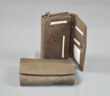 Damen Geldbeutel Geldbörsen Portemonnaie 8073 Braun