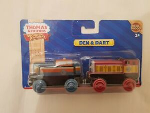 Thomas The Tank Engine & Friends DEN AND DART TRAIN WOODEN NEW IN BOX WOOD
