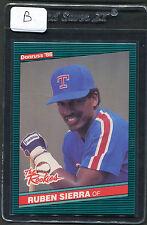 1986 Donruss Rookies Ruben Sierra RC #52 Mint Rangers (B)