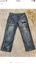 Ralph Lauren Patchwork Loose Fit Denim Jeans 36