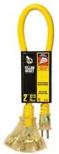 Yellow Jacket 12/3 SJTW 3 Outlet Outdoor Heavy-Duty 15 Amp Extension Cable 2882