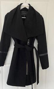 FOREVER NEW Size 8 Women Jacket Black Trench Coat