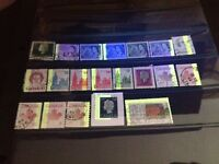 20 Used Canada Tagging Error Stamps (Lot #8223)