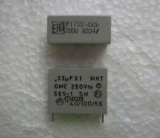 10 ERO Roederstein .33uF 250V AC 10% MKT 1722 polyester X1 X2 Safety capacitors